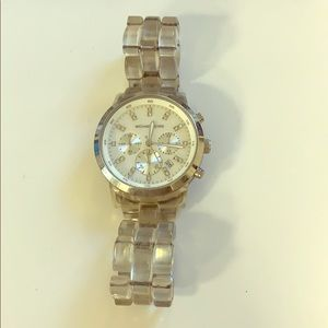 Michael kors watch in rare clear acrylic